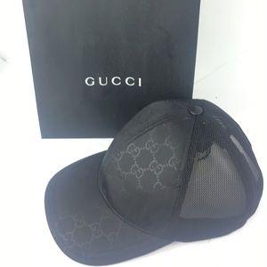 dc097ef6368fb Gucci Accessories - Gucci  510950 Black GG Nylon Canvas Baseball Cap